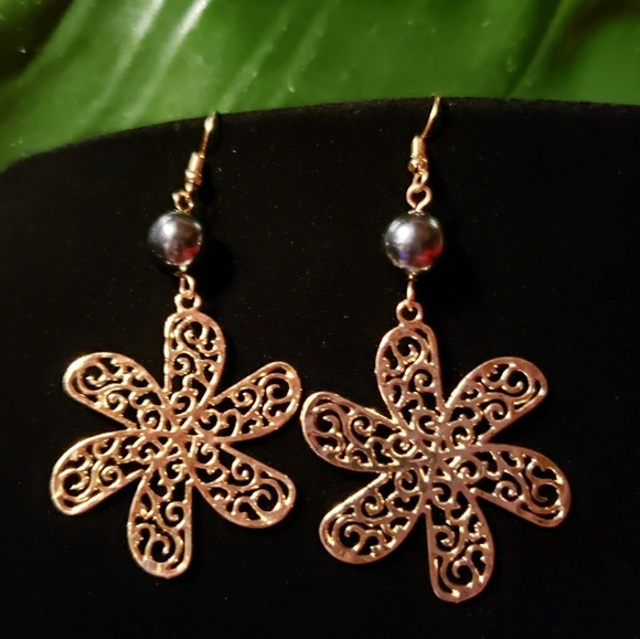659c710252 handmade Jewelry | Plumeria Filigree Pearl Earrings | Poshmark